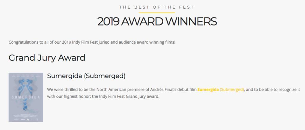 SUMERGIDA BEST FILM